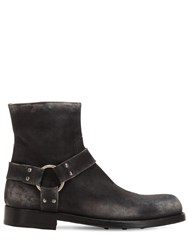 Officine Creative Asher 006 Distressed Leather Boots Black