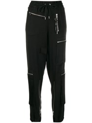 Diesel Tencel Track Pants Black