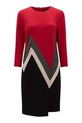 James Lakeland Zig Zag Dress Red