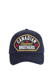 Dsquared Canadian Brothers Patch Baseball Hat Blue