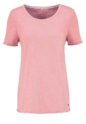 Cream Laura Basic Tshirt Rosette Coral