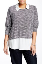 Eyeshadow 2 For 1 Pullover Plus Size Gray
