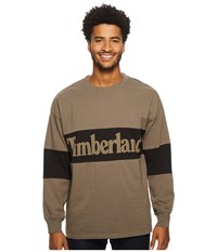 Timberland Warner River Long Sleeve Retro Oversized Tee Bungee Cord Men's T Shirt Olive