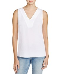 Nydj Embroidered Tank Optic White