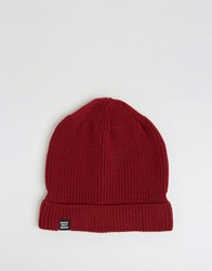 Herschel Supply Co Buoy Fisherman Beanie In Burgundy Red