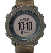 Suunto Traverse Alpha Foliage Stainless Steel And Woven Gps Watch Green