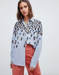 Maison Scotch Textured Leopard Print Shirt Combo B Multi