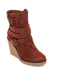Bcbgeneration Finland Leather Wedge Boots Cognac
