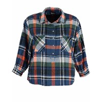 Lowie Stitch Detail Shirt Blue Check