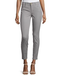 Minnie Rose Skinny Stretch Twill Ankle Pants Granite
