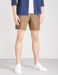 Sandro Pocketed Stretch Cotton Shorts Khaki