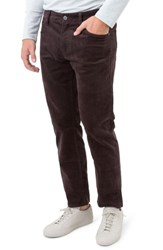 7 Diamonds Men's Courtland Slim Fit Corduroy Pants Mocha Brown