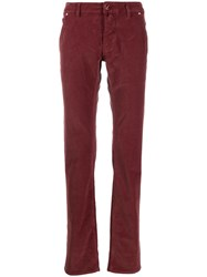 Jacob Cohen J613 Straight Leg Trousers Red
