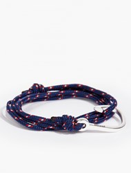 Miansai Navy Silver Plated Hook Bracelet