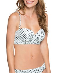 Betsey Johnson Polka Dotted Underwire Bikini Top Black