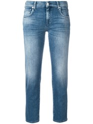 7 For All Mankind Cropped Jeans Blue