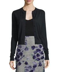 Jason Wu Wool Blend Lace Back Cardigan Sweater Black