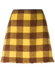 N 21 No21 Checked Skirt Brown