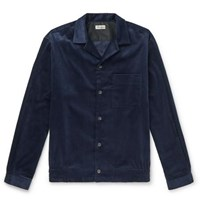 Camoshita Camp Collar Cotton Corduroy Overshirt Navy