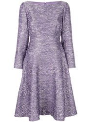 Lela Rose Sequin Embellished Dress Purple