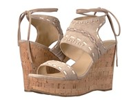 Ivanka Trump Zader Light Natural Fh Kid Suede Fez Nappa Capria Women's Wedge Shoes Beige