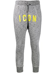 Dsquared2 Icon Track Trousers Grey