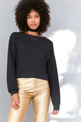Truly Madly Deeply Paige Boxy Thermal Top Black