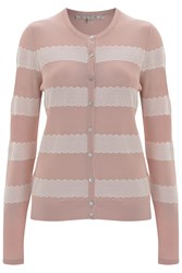 Nougat London Freesia Striped Cardigan Nude