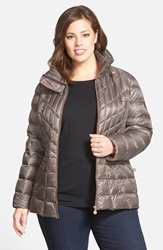 Bernardo Packable Jacket With Down And Primaloft Fill Plus Size Moonrock Eggplant Lining
