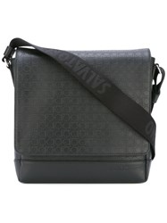 Salvatore Ferragamo Gancio Embossed Messenger Bag Men Calf Leather One Size Black