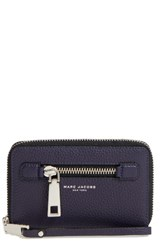 Marc Jacobs Women's 'Gotham' Leather Phone Wallet Blue Nightshade