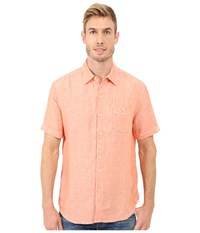 Tommy Bahama Party Breezer S S Citrus Sun Men's Short Sleeve Button Up Orange