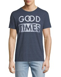 Sol Angeles Good Times Graphic T Shirt Blue