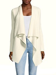 Saks Fifth Avenue Cashmere Ribbed Cardigan Winter White