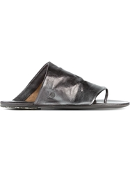 Marsell Flat Slip On Sandals Grey
