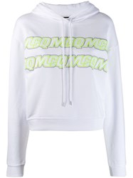 Mcq By Alexander Mcqueen Embroidered Logo Hoodie White