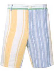 Thom Browne Striped Blanket Linen Short White