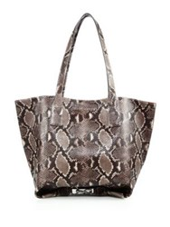 Marc Jacobs Wingman Snake Embossed Leather Tote Natural