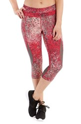 Lole Women's Run Capris Tropical Rose Pointillism