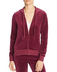 Juicy Couture Black Label Robertson Velour Zip Hoodie 100 Bloomingdale's Exclusive Burgundy