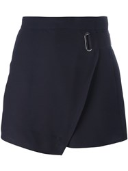Carven Wrap Overlay Shorts Blue