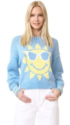 Wildfox Couture Hello Sunshine Sweater Pool Blue