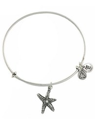Alex And Ani Starfish Charm Bangle Silver