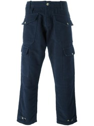 Bleu De Paname Pocket Cargo Trousers Blue