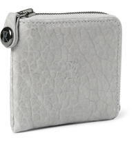 Parabellum Courier Zip Around Leather Wallet Gray
