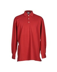 Fedeli Topwear Polo Shirts Men Rust