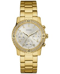 Guess Women's Gold Tone Stainless Steel Bracelet Watch 37Mm U0851l2