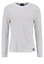 Abercrombie And Fitch Long Sleeved Top Cream Navy Off White