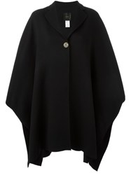 Agnona Notched Lapel Cape Black
