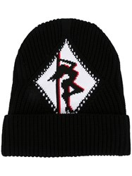 Alexander Wang Argyle Girl Beanie Black